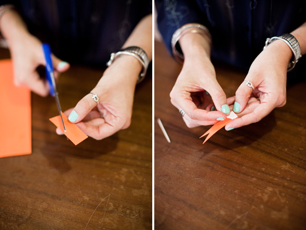 DIY Project: Cactus Place Cards & Favors - DIY cactus neon modern favors seating flag 11