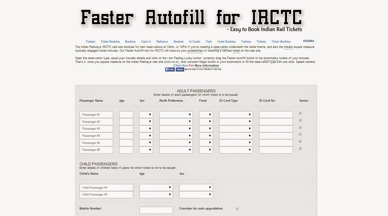 how to make fast booking in irctc in tatkal