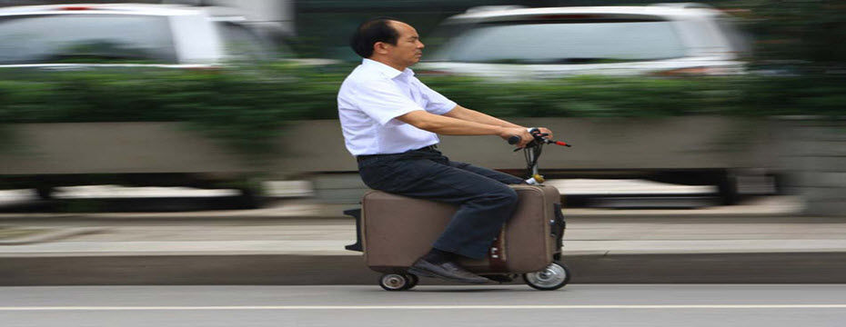 chinese scooter cum suitcase