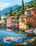 Dimensions-Needlecrafts-Paintworks-Paint-By-Number-Lakeside-Village-0