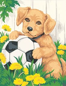 Dimensions-Needlecrafts-Paintworks-Paint-By-Number-Puppy-Soccer-Ball-0