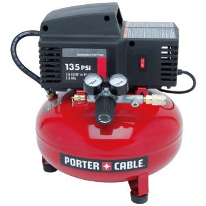PORTER-CABLE PCFP02003 Pancake Compressor 135 PSI, 0.8 HP, 3.5-Gallon