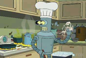 Animation Robot chef
