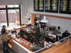 Luigi Di Ruocco at the helm behind Coffee Bar's, well, coffee bar