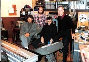 Steve Thompson in the recording studio with Kraftwek mid 1980s