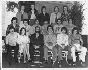 Steve Thompson along with other member DJs in the Long Island Disco Record Pool Jackie McCloy, Jenny Costa, Lippy, Johnny Ace. Paul Casella