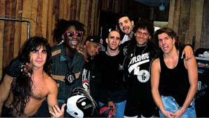 Steve Thompson with members of Anthrax and Public Enemy