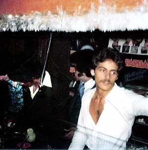Steve Thompson in DJ booth 70s Poor Peters in Long Island