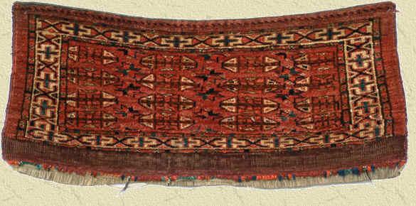 Antique Eagle Gul Group II  Yomud Mafrash