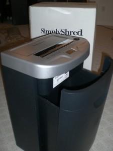 SimplyShred SG-832C Ultra Quiet Heavy-Duty 10-Sheet Smart JamStop Micro-Cut Paper Shredder
