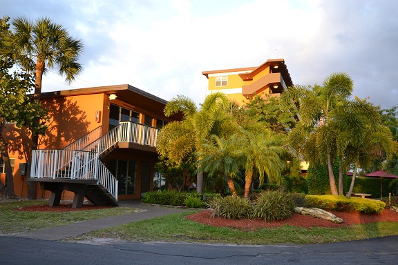 Florida House has 200+ beds on a unique therapeutic community four acre campus in downtown Deerfield Beach