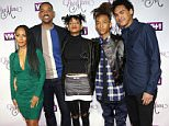 """Jada Pinkett Smith, from left, Will Smith, Willow Smith, Jaden Smith and Trey Smith attend VH1's """"Dear Mama"""" Mother's Day Special taping at St. Bartholomewís Church on Tuesday, May 3, 2016, in New York. (Photo by Greg Allen/Invision/AP)"""