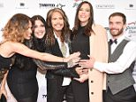 """NEW YORK, NY - MAY 02:  (L-R) Chelsea Tyler, Mia Tyler, Steven Tyler, Liv Tyler and Taj Tallarico attend """"Steven Tyler...Out on a Limb"""" Show to Benefit Janie's Fund in Collaboration with Youth Villages - Red Carpet at David Geffen Hall on May 2, 2016 in New York City.  (Photo by Theo Wargo/Getty Images for M2M Construction)"""