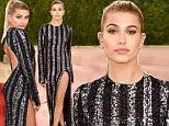 Mandatory Credit: Photo by David Fisher/REX/Shutterstock (5669034ca)\nHailey Baldwin\nThe Metropolitan Museum of Art's COSTUME INSTITUTE Benefit Celebrating the Opening of Manus x Machina: Fashion in an Age of Technology, Arrivals, The Metropolitan Museum of Art, NYC, New York, America - 02 May 2016\n