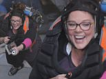 Melissa McCarthy gets suspended in mid air for special effects filming on the set of 'Ghostbusters'\nFeaturing: Melissa McCarthy\nWhere: Los Angeles, California, United States\nWhen: 03 May 2016\nCredit: Cousart/JFXimages/WENN.com