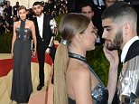 """NEW YORK, NY - MAY 02:  Gigi Hadid (L) and Zayn Malik attend the """"Manus x Machina: Fashion In An Age Of Technology"""" Costume Institute Gala at Metropolitan Museum of Art on May 2, 2016 in New York City.  (Photo by Jamie McCarthy/FilmMagic)"""