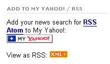 Yahoo Search RSS