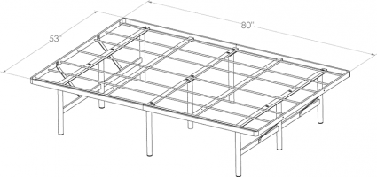 INTOWN - MTS FRAME C-FULL-XL BED