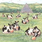 Glasto cows by Kate Chidley