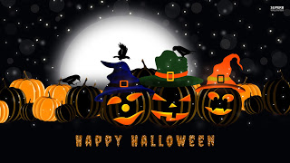 black halloween scary images
