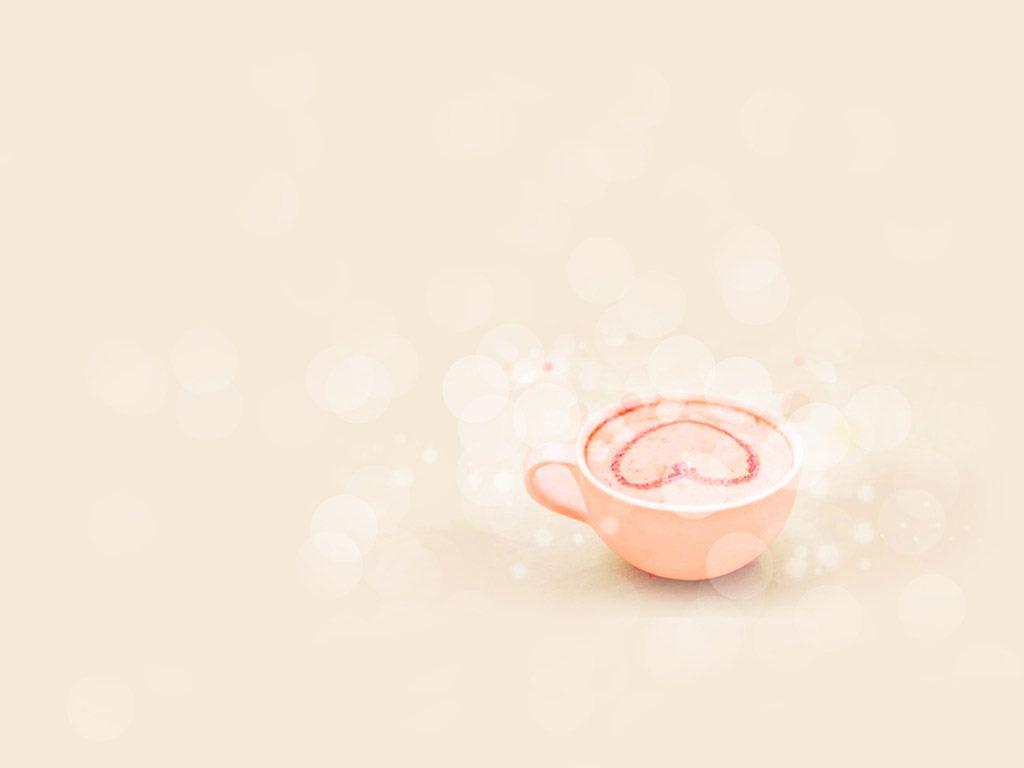 粉色爱心奶茶素材 背景图片可爱