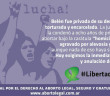 """""""Belen was deprived of her right to health, tortured and imprisoned . Tucumana justice sentenced her to 8 years in prison for having an abortion under the sentence """"double aggravated homicide by bond with premeditation"""" although none of that has been proven. We demand her immediate release and annulment of her charges."""""""