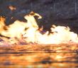 fracking, river fire, australia