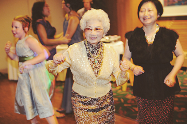 wedding party dance grandma