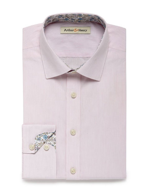 Pink stripe floral cuffs shirt from Arthur and Henry