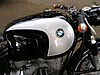 Fuel tank on our 1965 R60 BMW Motorcycle.  This is a rare Heinrich Fuhrmann 3, holding approximately 9 gallons.