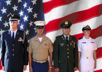 Members of the military from all branches