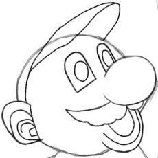 How to Draw Mario Head Details