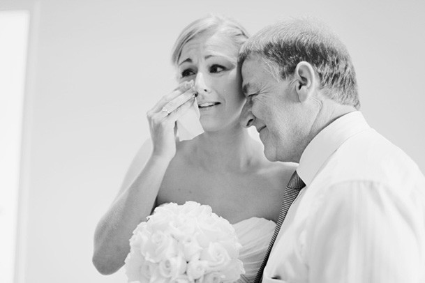 Classic Black and White Inspiration from New Zealand - 9 bride father
