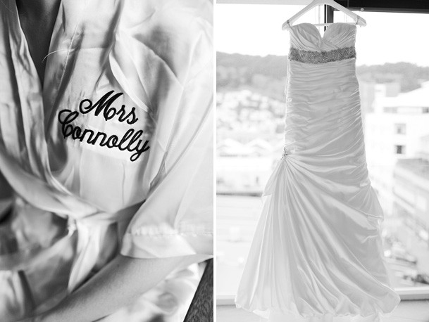 Classic Black and White Inspiration from New Zealand - 4 silk outfit bride engraved