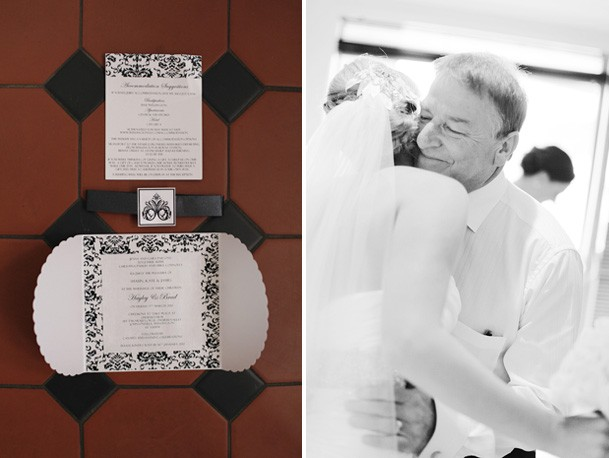Classic Black and White Inspiration from New Zealand - 8 damask black white invites
