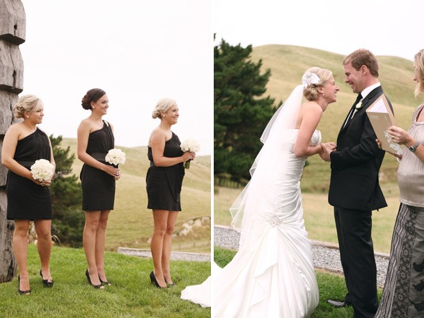 Classic Black and White Inspiration from New Zealand - 16 candy capco wedding black white bridesmaids