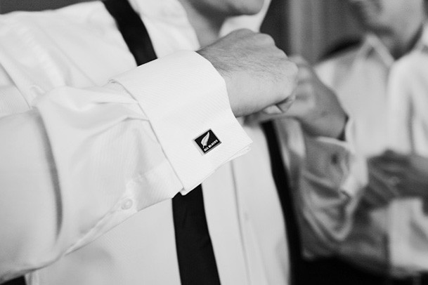Classic Black and White Inspiration from New Zealand - 11 groom cuff links black tie