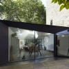 Origami-Like Space Extension Design for Victorian Home in London : Incredible Home Exterior In Modern Home Shaped Design With Glass Wall Design Ideas