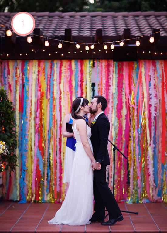 colorful-streamer-backdrops-wedding
