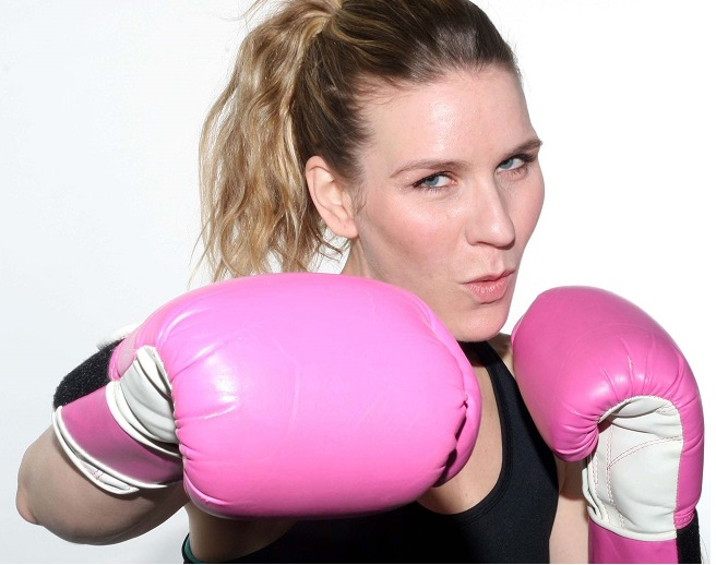 Womens Cute Pink Boxing Gloves