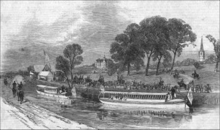 Queen Victoria travels via the Bridgewater Canal