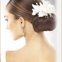 low bun hairstyles for wedding