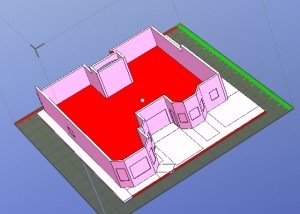 Laurens House showing red and lawn in sections