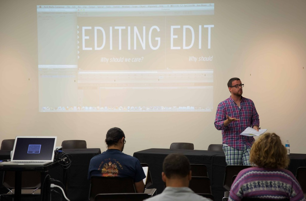 Award-winning Ken Mowe teaches an Editing Master Class.