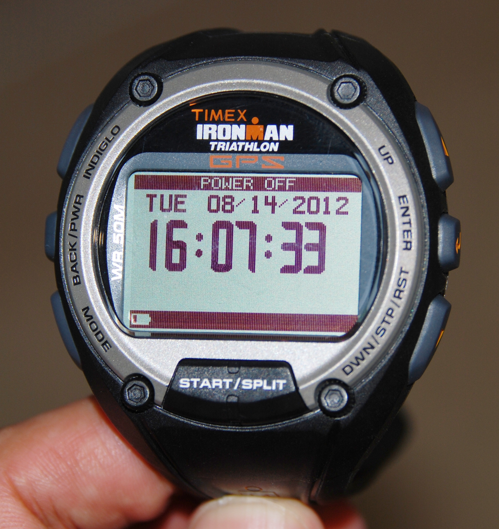 The face of the Timex Ironman GPS Global Trainer