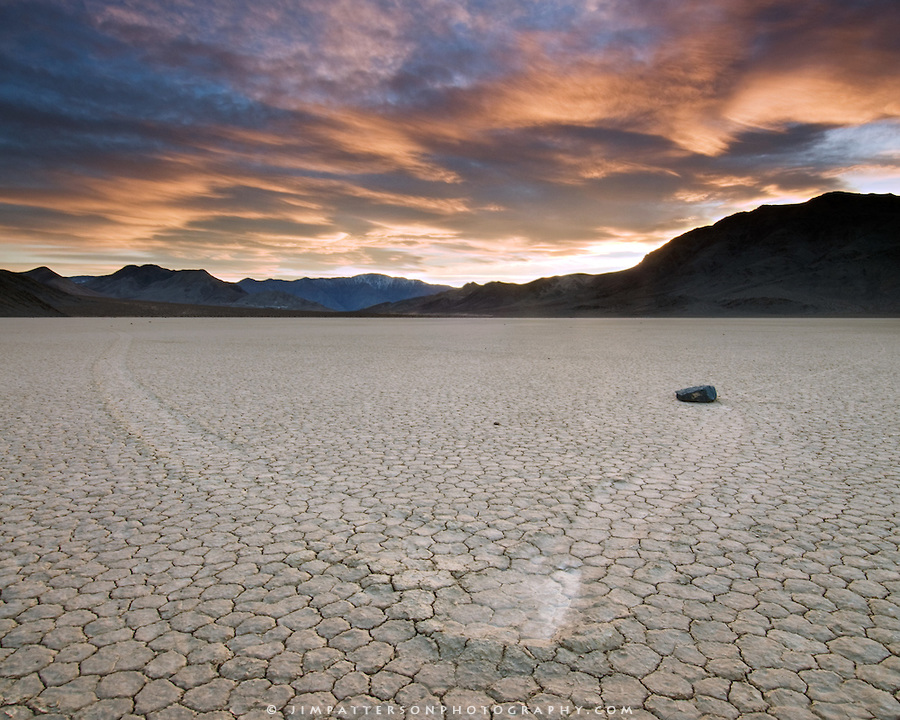 Sunset at Racetrack Playa, Death Valley
