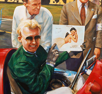 Make a Date! Mike Hawthorn. Gicleé print
