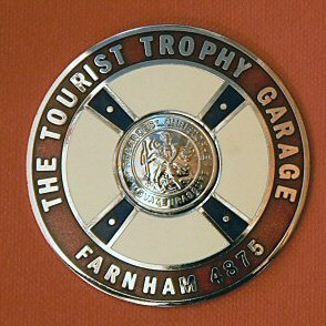 Mike Hawthorn's Tourist Trophy Garage Badge inc P&P IN STOCK