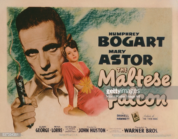 Huston Bogart Maltest Falcon poster