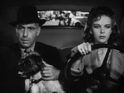 "In High Sierra (1941), with Ida Lupino, whose top billing reflected Bogart's not-quite-a-star status, and Pard the badluck pooch, who gets his own credit (""played by Zero"")"